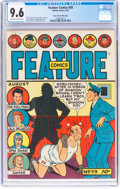 Golden Age (1938-1955):Miscellaneous, Feature Comics #59 Mile High Pedigree (Quality, 1942) CGC NM+ 9.6 Off-white to white pages....