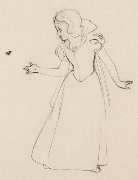 Snow White and the Seven Dwarfs Concept Drawing (Walt Disney