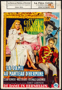 """That Lady in Ermine (20th Century Fox, 1948). Folded, Fine+. Trimmed Belgian (14"""" X 19.25""""). Musical"""