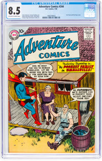 Adventure Comics #244 (DC, 1958) CGC VF+ 8.5 Off-white to white pages