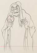 Animation Art:Production Drawing, Snow White and the Seven Dwarfs Old Witch Animation Production Drawing Original Art (Disney, 1937). ...