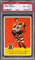 Hockey Cards:Singles (Pre-1960), 1957 Topps Larry Regan #6 PSA NM-MT+ 8.5....