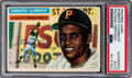 Baseball Cards:Autographs, Signed 1956 Topps Roberto Clemente #33 PSA/DNA Authentic. ...