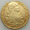 Colombia, Colombia: Charles IV gold 8 Escudos 1792 P-JF XF (ex-jewelry),...