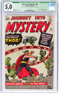 Silver Age (1956-1969):Superhero, Journey Into Mystery #83 (Marvel, 1962) CGC Qualified VG/FN 5.0White pages....