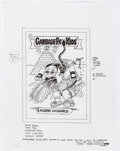 """Original Comic Art:Miscellaneous, Jay Lynch Garbage Pail Kids """"Laura Coughed"""" Card Preliminary Illustration Original Art (Topps, c. 2000s)...."""