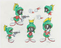 "Animation Art:Production Drawing, Virgil Ross - Marvin the Martian ""Model Sheet"" and K-9 ""Model Sheet"" Drawings Original Art Group of 2 (Warner Brothers, c. 199... (Total: 2 Original Art)"
