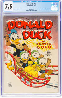Four Color #62 Donald Duck (Dell, 1945) CGC VF- 7.5 Off-white pages