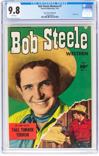 Bob Steele Western #7 Mile High Pedigree (Fawcett Publications, 1951) CGC NM/MT 9.8 White pages