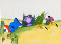 Animation Art:Production Cel, Beatles Yellow Submarine The Glove with John Production Cel Setup(United Artists/King Features, 1968).... (Total: 3 Items)