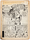 "Original Comic Art:Splash Pages, Kenneth Pauling Riley Young Love #3 ""Match Makers"" TitlePage 1 Original Art (Prize Comics, 1949)...."