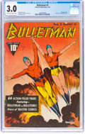 Golden Age (1938-1955):Superhero, Bulletman #3 (Fawcett Publications, 1942) CGC GD/VG 3.0 Cream to off-white pages....