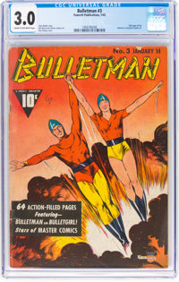 Bulletman #3 (Fawcett Publications, 1942) CGC GD/VG 3.0 Cream to off-white pages
