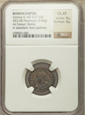 Ancients:Ancient Lots , Ancients: ANCIENT LOTS. Roman Imperial. Ca. AD 317-340. Lot of two(2) BI nummi or AE3/4. NGC Choice XF.... (Total: 2 coins)