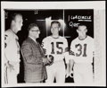 Football Collectibles:Photos, 1962 Starr, Lombardi, Hornung, & Taylor Wire Photograph - Championship Season....