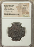 Ancients:Roman Imperial, Ancients: Marcus Agrippa, Lieutenant of Augustus (died 12 BC). AE(29mm, 11.26 gm, 7h). NGC Choice XF 5/5 - 2/5, Fine Style....