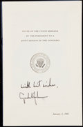 Autographs:Letters, 1965 President Lyndon B. Johnson Signed State of the Union....