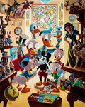 Memorabilia:Disney, Carl Barks In Uncle Walt's Collectery Signed Limited Edition Lithograph Print #87/345 (Another Rainbow, 1984)....