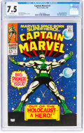 Silver Age (1956-1969):Superhero, Captain Marvel #1 (Marvel, 1968) CGC VF- 7.5 White pages.
