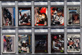 Autographs:Sports Cards, 1990s Dale Earnhardt Signed Card Collection (10) - PSA/DNA Encapsulated. ... (Total: 10 items)