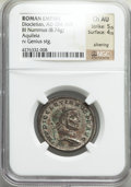Ancients:Ancient Lots , Ancients: ANCIENT LOTS. Roman Imperial. Ca. AD 284-306. Lot of two(2) AE folles or BI nummi. NGC VF-Choice AU, Silvering.... (Total:2 coins)