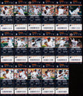 Autographs:Baseballs, 2013 Miguel Cabrera Home Run Full Ticket Lot of 17 - Second MVPSeason, includes 350th Career HR.... (Total: 17 items)