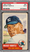 Baseball Cards:Singles (1950-1959), 1953 Topps Mickey Mantle (SP) #82 PSA VG 3....