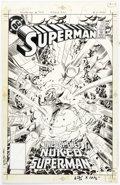 Original Comic Art:Covers, Ed Hannigan and Murphy Anderson Superman #393 Cover OriginalArt (DC, 1984)....