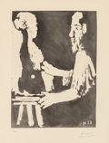 Fine Art - Work on Paper:Print, Pablo Picasso (1881-1973). Sculpteur au travail, from TheSable Mouvant, 1964. Aquatint on wove paper. 15 x 10-3/4 i...