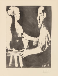 Pablo Picasso (1881-1973) Sculpteur au travail, from The Sable Mouvant, 1964 Aquatint on