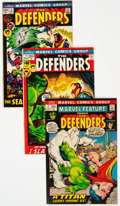 Bronze Age (1970-1979):Superhero, Marvel Feature and The Defenders Group of 4 (Marvel, 1972)....(Total: 4 Comic Books)