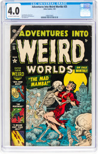 Adventures Into Weird Worlds #25 (Atlas, 1954) CGC VG 4.0 Off-white to white pages