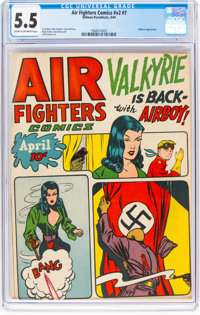 Air Fighters Comics V2#7 (Hillman Fall, 1944) CGC FN- 5.5 Cream to off-white pages