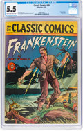 Golden Age (1938-1955):Classics Illustrated, Classic Comics #26 Frankenstein - First Edition (Gilberton, 1945) CGC FN- 5.5 Cream to off-white pages....