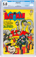 Golden Age (1938-1955):Superhero, Batman #73 (DC, 1952) CGC VG/FN 5.0 Off-white to white pages....