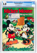 Platinum Age (1897-1937):Miscellaneous, Mickey Mouse Magazine #9 (K. K. Publications/Western PublishingCo., 1936) CGC GD/VG 3.0 Off-white to white pages....