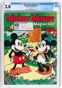 Mickey Mouse Magazine #9 (K. K. Publications/Western Publishing Co., 1936) CGC GD/VG 3.0 Off-white to white pages