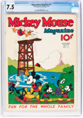 Platinum Age (1897-1937):Miscellaneous, Mickey Mouse Magazine #12 (K. K. Publications/Western PublishingCo., 1936) CGC VF- 7.5 Off-white to white pages....
