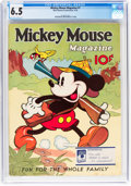 Platinum Age (1897-1937):Miscellaneous, Mickey Mouse Magazine #7 (K. K. Publications/Western PublishingCo., 1936) CGC FN+ 6.5 Off-white to white pages....