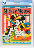 Platinum Age (1897-1937):Miscellaneous, Mickey Mouse Magazine V2#13 (K. K. Publications/Western PublishingCo., 1937) CGC FN/VF 7.0 Off-white pages....