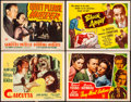 "Movie Posters:Film Noir, Calcutta & Other Lot (Paramount, 1946). Fine/Very Fine. Lobby Cards (3) & Title Lobby Card (11"" X 14""). Film Noir.. ... (Total: 4 Items)"