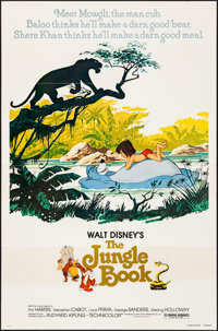 "The Jungle Book (Buena Vista, R-1978). Flat Folded, Fine/Very Fine. One Sheet (27"" X 41""). Animation"
