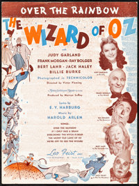 """""""Somewhere Over the Rainbow"""" from The Wizard of Oz & Other Lot (MGM, 1939). Very Fine-. Sheet Music (3..."""