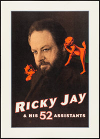 """Ricky Jay and His 52 Assistants (HBO, 1996). Rolled, Very Fine+. Television Movie Poster (20"""" X 28"""") SS. Misce..."""