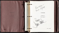 "On Golden Pond by Ernest Thompson (Universal, 1980). Very Fine-. Autographed Screenplay Script (131 Pages, 10"" X 11..."