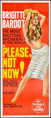 "Please, Not Now! (International Classics, 1963). Folded, Very Fine/Near Mint. Australian Daybill (13"" X 30"")..."