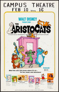 "Movie Posters:Animation, The Aristocats & Other Lot (Buena Vista, 1971). Overall:Fine/Very Fine. Window Cards (2) (14"" X 22""). Paul Wenzel Artwork.... (Total: 2 Items)"