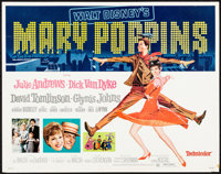 """Mary Poppins & Other Lot (Buena Vista, R-1973). Rolled, Fine+. Half Sheets (2) (22"""" X 28""""). Paul Wenze..."""