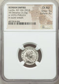 Ancients:Roman Imperial, Ancients: Lucilla (AD 164-182/3). AR denarius (19mm, 3.23 gm, 6h).NGC Choice AU 5/5 - 4/5....