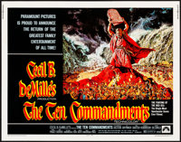 """The Ten Commandments & Other Lot (Paramount, R-1972). Rolled, Overall: Fine/Very Fine. Half Sheets (2) (22""""..."""